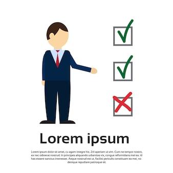 Élection du journal de la liste de vérification du vote des hommes d'affaires