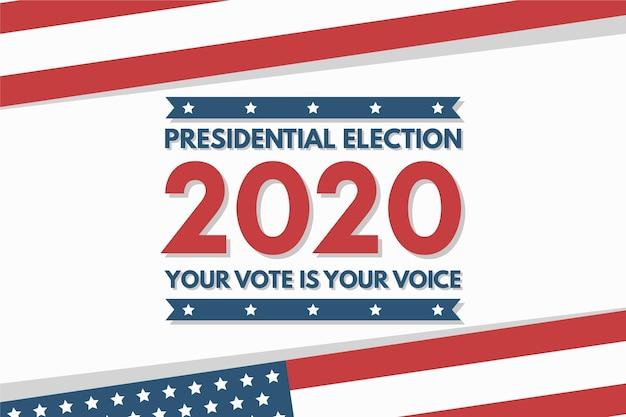 Élection présidentielle de 2020 aux états-unis fond d'écran avec drapeau
