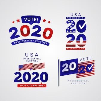 Élection présidentielle américaine 2020 - logos