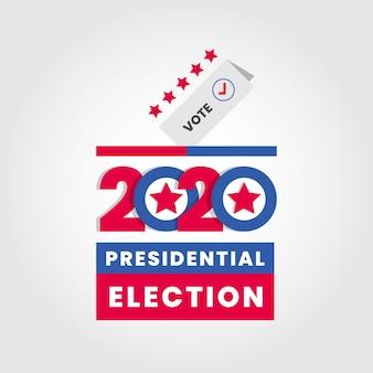 Élection présidentielle américaine flat 2020