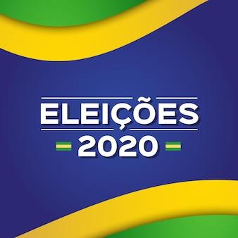 Élections 2020 au brésil message