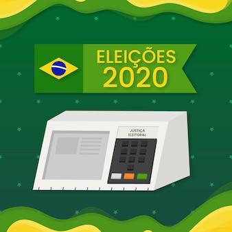 Élections au brésil en format numérique