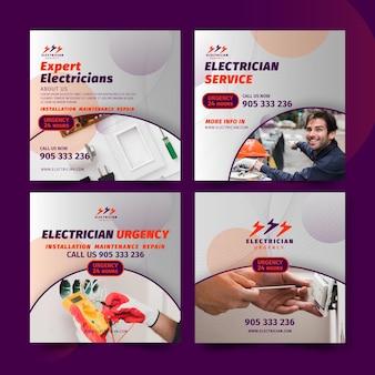 Électricien instagram posts collection