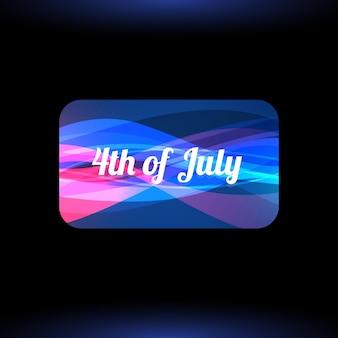 Élégant 4ème juillet illustration de fond
