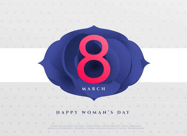 Élégant 8e mars heureux jour de la femme