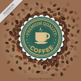 Elegant background avec des grains de café décoratifs