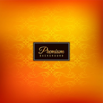 Élégant beau fond orange premium