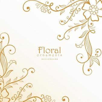 Élégant belle décoration florale fond