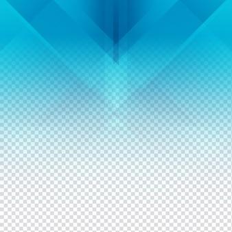 Elégant bleu fond transparent polygonale