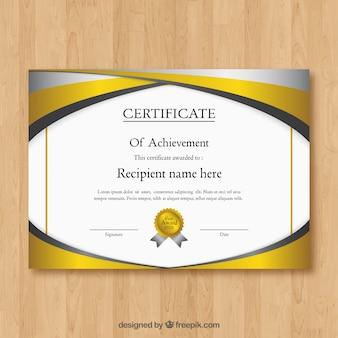 Élégant certificat de modèle