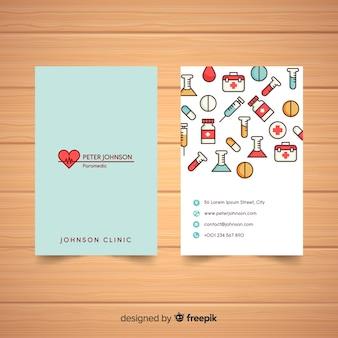 Élégant design de carte de visite médicale