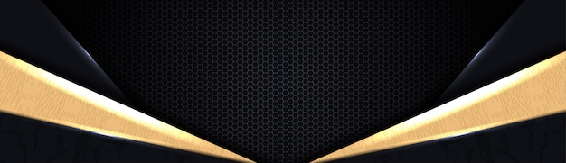 Élégant fond abstrait noir avec des couches de chevauchement