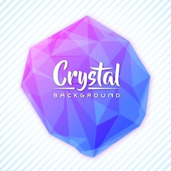 Élégant fond de bannière de texte en cristal