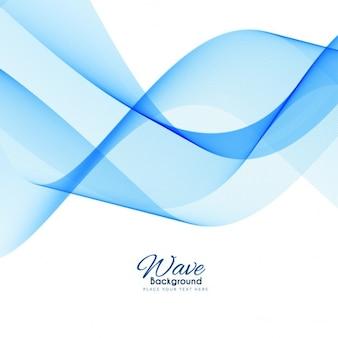 Elégant fond bleu vague moderne