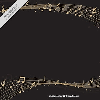 Elégant fond pentagramme avec les notes musicales