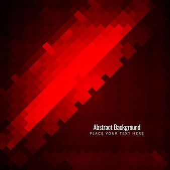 Élégant fond rouge en mosaïque lumineuse