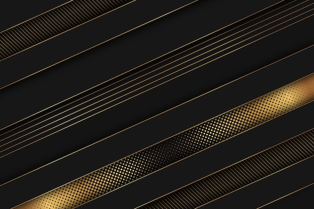 Élégant fond sombre avec des détails dorés