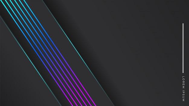 Élégant fond sombre avec une ligne dégradé bleu violet