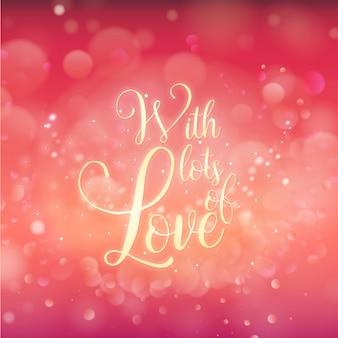 Élégant fond de valentine avec effet d'éclairage