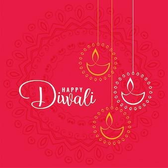 élégant fond de voeux joyeux diwali festival