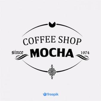 Élégant insigne café moka