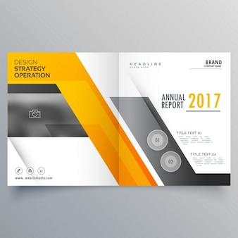 Élégant livret bifold modèle page de couverture de conception mise en page