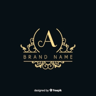 Elégant logo ornemental