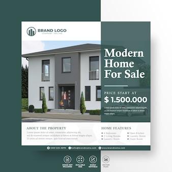 Élégant maison moderne immobilier médias sociaux post modèle de propriété