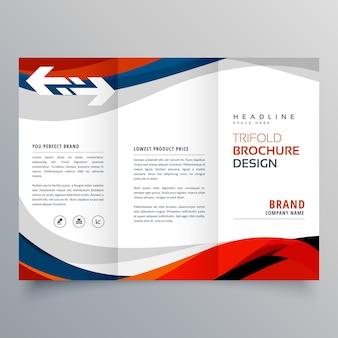 Élégant modèle de conception de brochure tri-fold