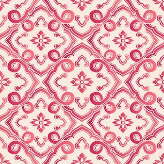 Élégant motif de fleurs botaniques de style chinois sans soudure. conception de papier peint rétro traditionnel.