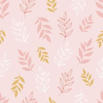 Élégant motif floral sans soudure de couleur rose pastel.