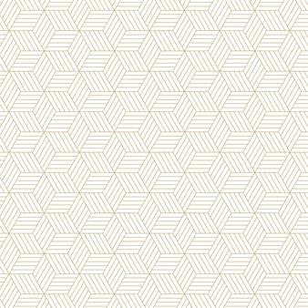 Élégant motif de lignes hexagonales