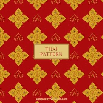 Élégant motif thai rouge