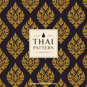 Élégant motif thaïlandais créatif