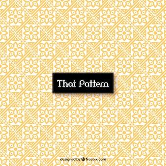 Élégant motif thaïlandais avec un style doré