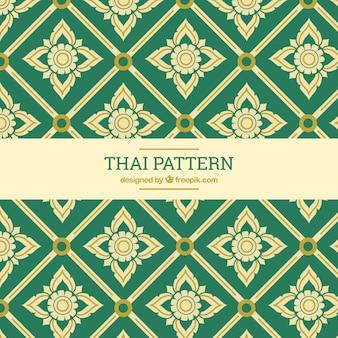 Élégant motif thaïlandais vert
