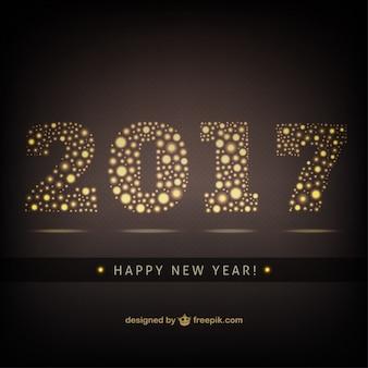 Elégant or nouvel arrière-plan de l'année