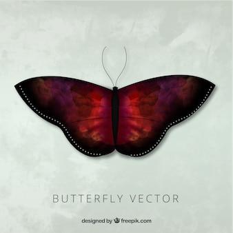 Elégant papillon aquarelle réaliste avec des ailes