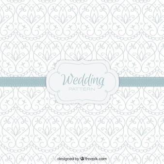 Elégant patterm de mariage avec une décoration tirée par la main
