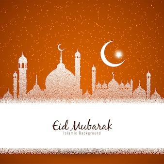 Élégant religieux eid mubarak fond islamique