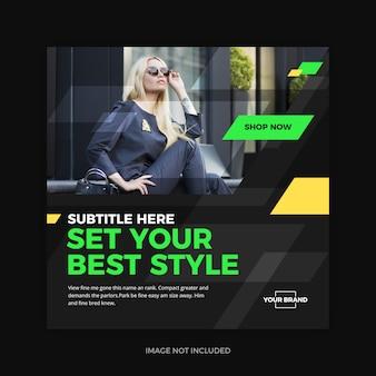 Élégant style promo instagram médias sociaux