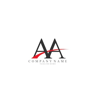 Élégant swoosh lettre aa vector logo