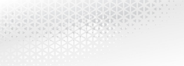 Élégant triangle subtil façonne la conception de bannière abstraite