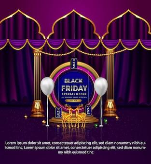Élégant vendredi noir promotion vente offre spéciale cerf jusqu'à la bannière