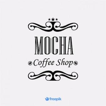 Élégante bannière café moka