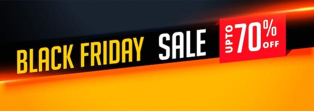 Élégante bannière de vente du vendredi noir avec les détails de l'offre