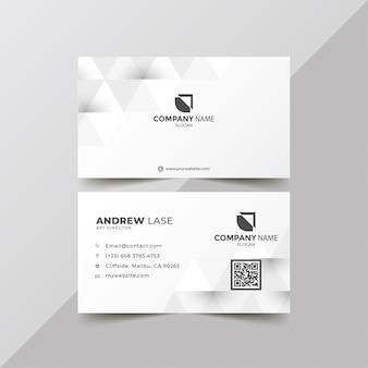 Élégante carte d'entreprise blanche