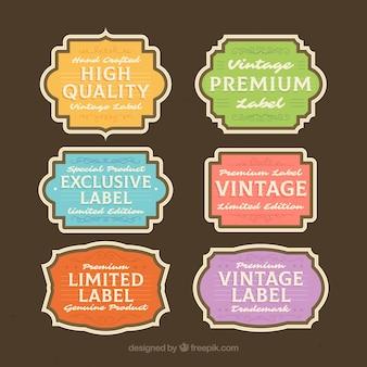 Élégante collection d'étiquettes vintage