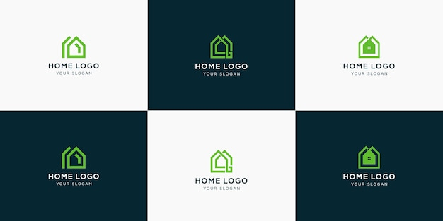 Élégante collection de logos immobiliers