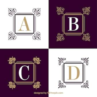 Élégante collection typographie
